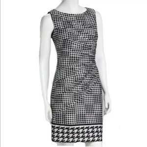 Jessica Simpson Houndstooth Ruched Sheath Dress,10